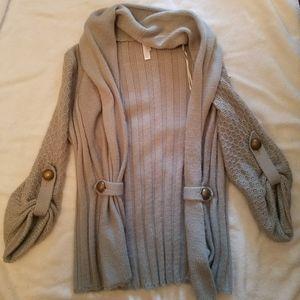 Xhileration grey cardigan size extra small